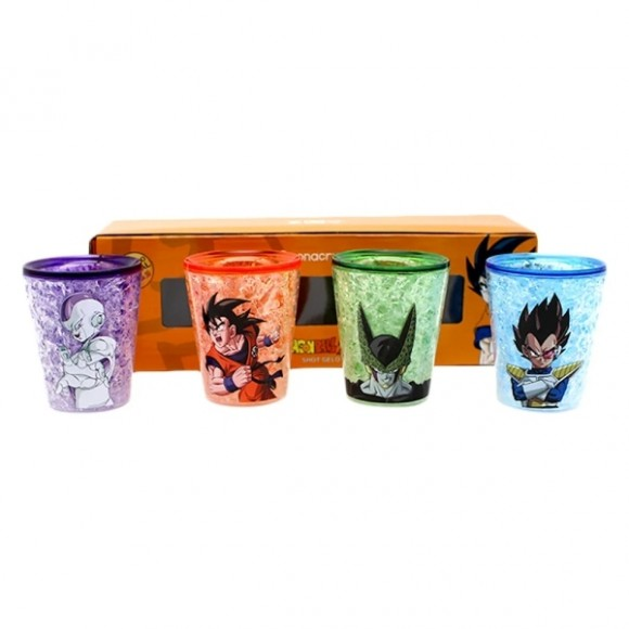Kit c/ 4 shots gelo 50 ml - Dragon ball
