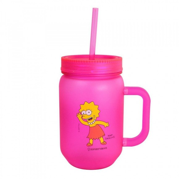 CANECA POTE FOSCA 450ML LISA SIMPSONS