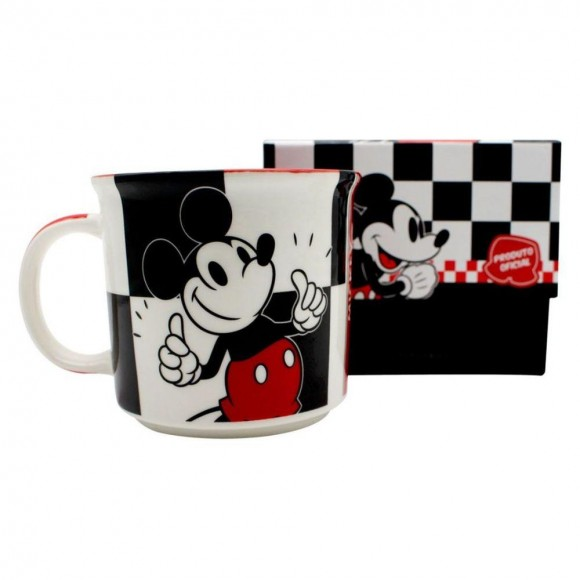 CANECA TOM 350ML MICKEY XADREZ