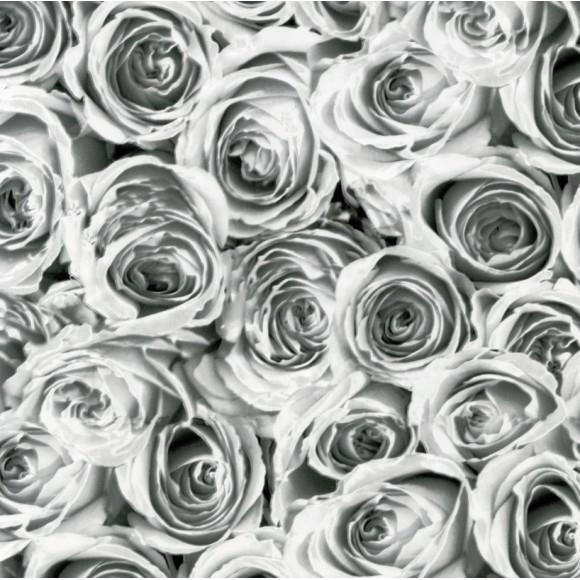 PAPEL DE PAREDE 15M - ROSES WHITE